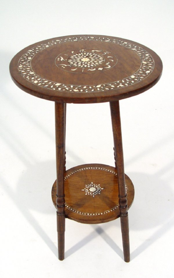 12: Circular Anglo Indian mahogany occasional table wit