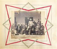 19th century black and white photograph album of India