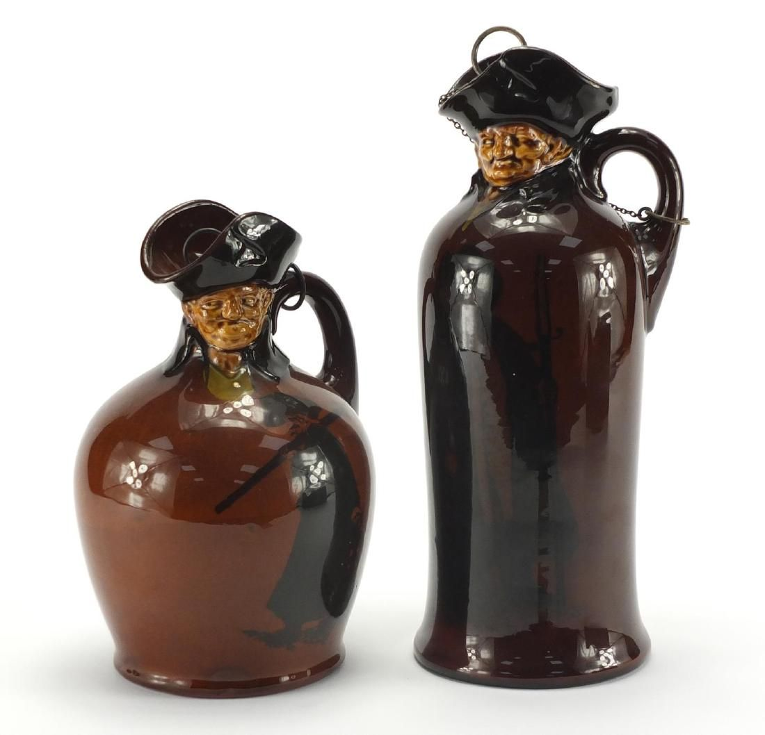 Two Royal Doulton Kingsware Watchman Whisky decanters,