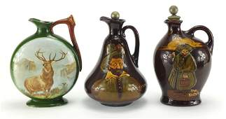 Three Royal Doulton Dewar's Whisky decanters, two