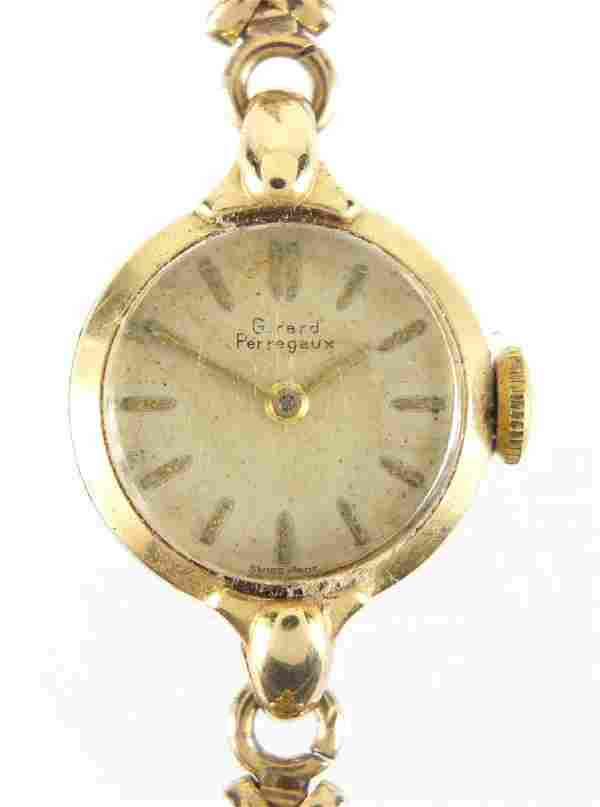 Ladies Girard Perregaux wristwatch with 9ct gold strap,