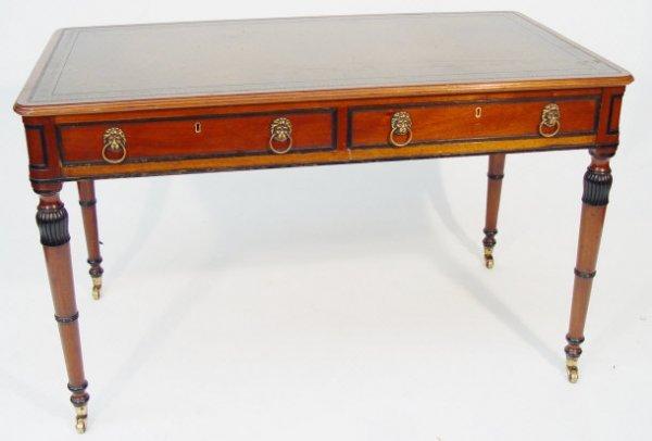 2: Pair of Gillows design reproduction mahogany writing