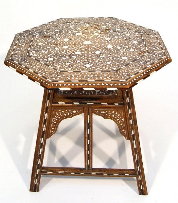7: Anglo-Indian octagonal hardwood occasional table pro