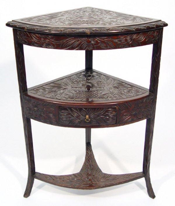 16: 19th century mahogany bow-fronted corner washstand
