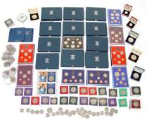 549 Large collection of British decimal proof coin set