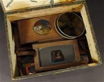 613: Selection of German magic lantern slides with hand