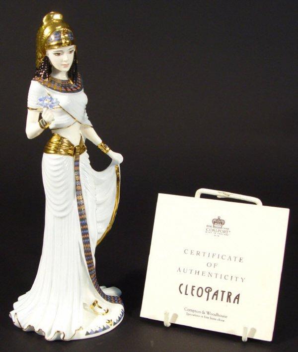 1203: Coalport bone china Cleopatra figurine, limited e