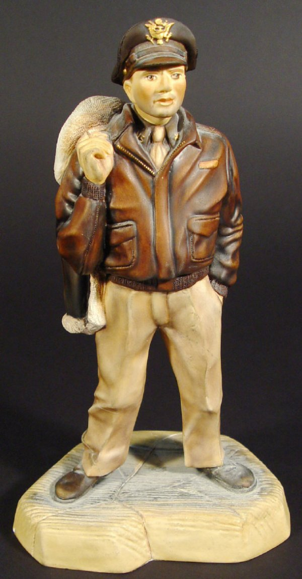 1205: Ashmoor Worcester bone china figure of a military