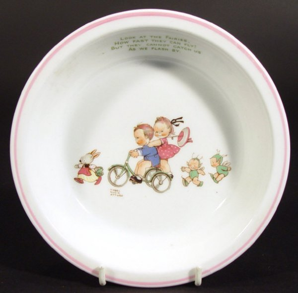1207: Shelley Mabel Lucie Atwell designed bone china bo