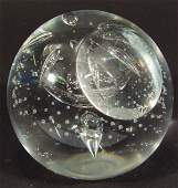 1223 Caithness clear crystal glass paperweight with in