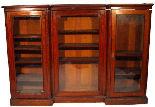 6: Victorian glazed mahogany inverted breakfront bookca