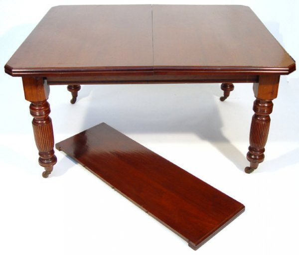 14: Victorian rectangular mahogany windout dining table