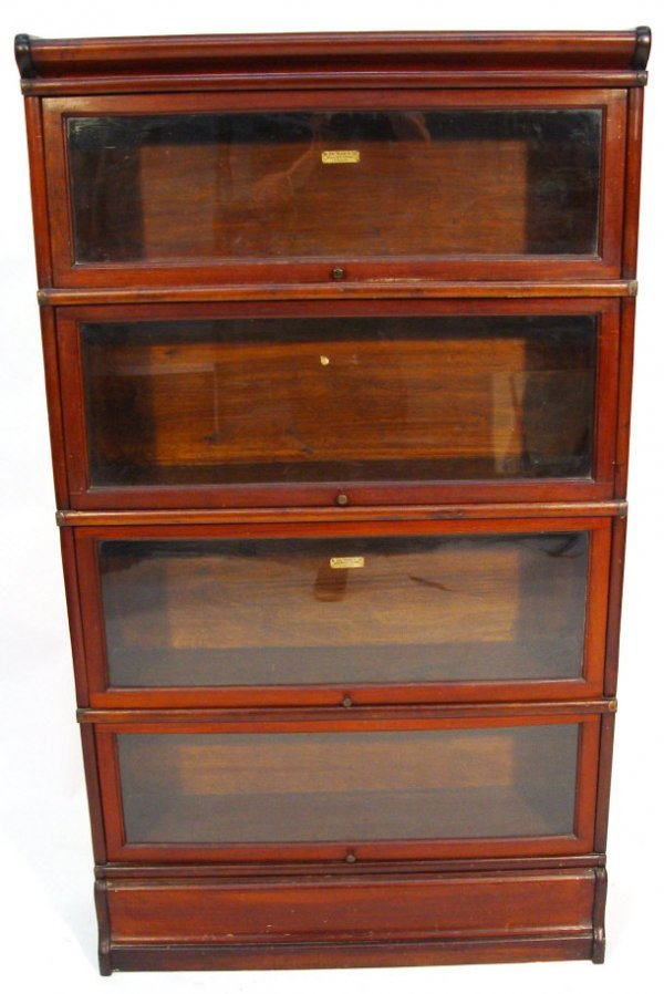 21: Globe Wernicke mahogany four section bookcase with