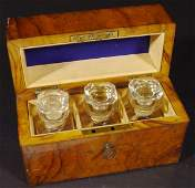 507: Set of three Victorian cut glass scent bottles and