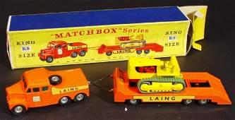 685: Boxed Lesney Matchbox Series Kingsize K8 tractor,