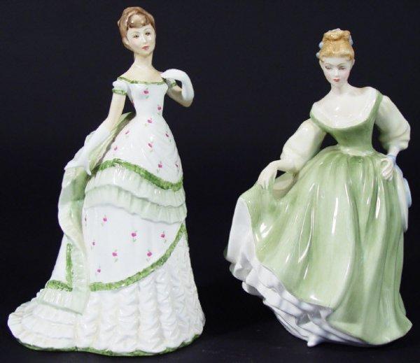 1203: Royal Doulton figurine 'Fair Lady' HN2193, togeth