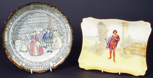1205: Two Royal Doulton Seriesware plates, one decorate