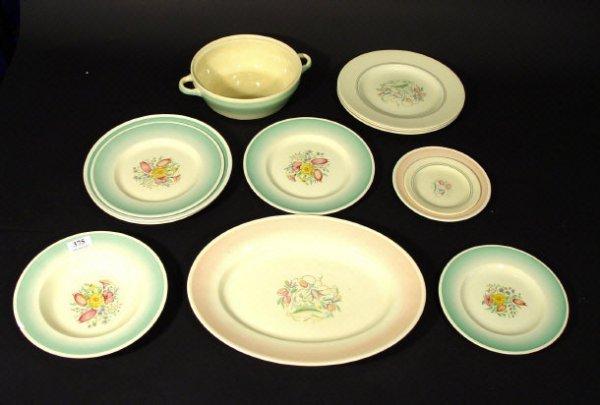 1215: Collection of Susie Cooper Art Deco dinnerwares,
