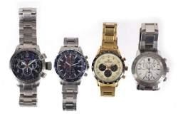 Four gentleman's chronograph wristwatches comprising