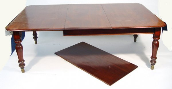 7: Victorian mahogany rectangular wind-out dining table