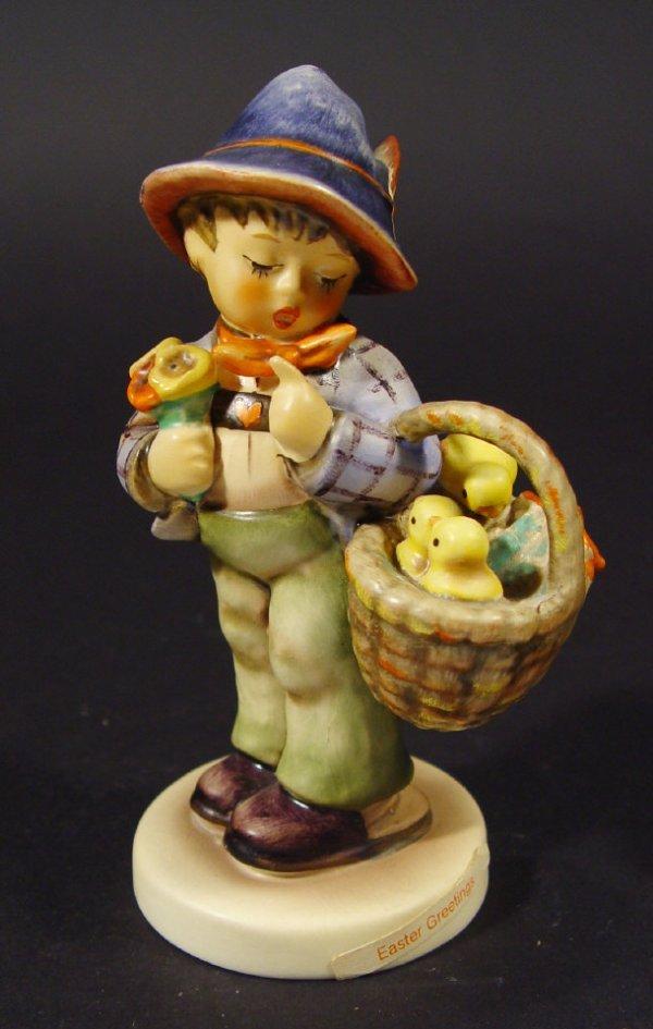 1202: Goebel Hummel china figurine 'Easter Greetings',