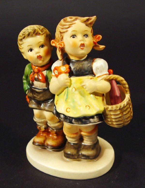 1210: Goebel Hummel china figurine 'To Market', with ha