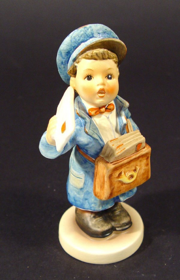 1213: Goebel Hummel china figurine 'Postman', with hand