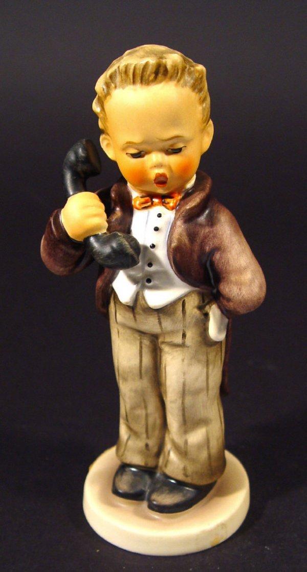 1216: Goebel Hummel china figurine 'Hello', with hand p