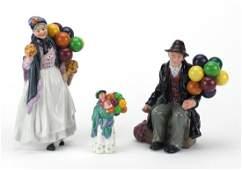 Three Royal Doulton figures Biddy Penny Farthing