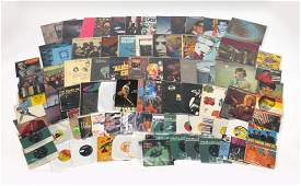 Vinyl LP's and 45RPM's including The Beatles, Bob