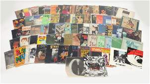 Vinyl LP's and programmes including The Beatles, The
