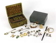 Antique and later jewellery including a ladies 9ct gold