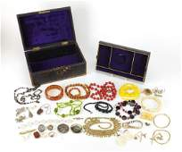 Antique and later jewellery including a 9ct gold