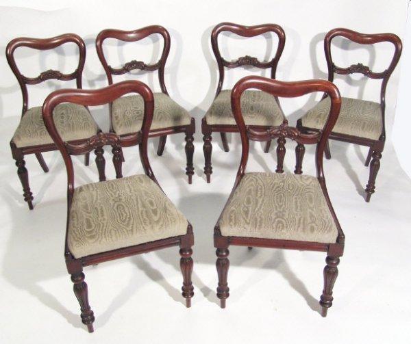 8: Set of six Victorian mahogany buckle back dining cha