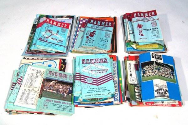 596: West Ham United football club programmes from 1974