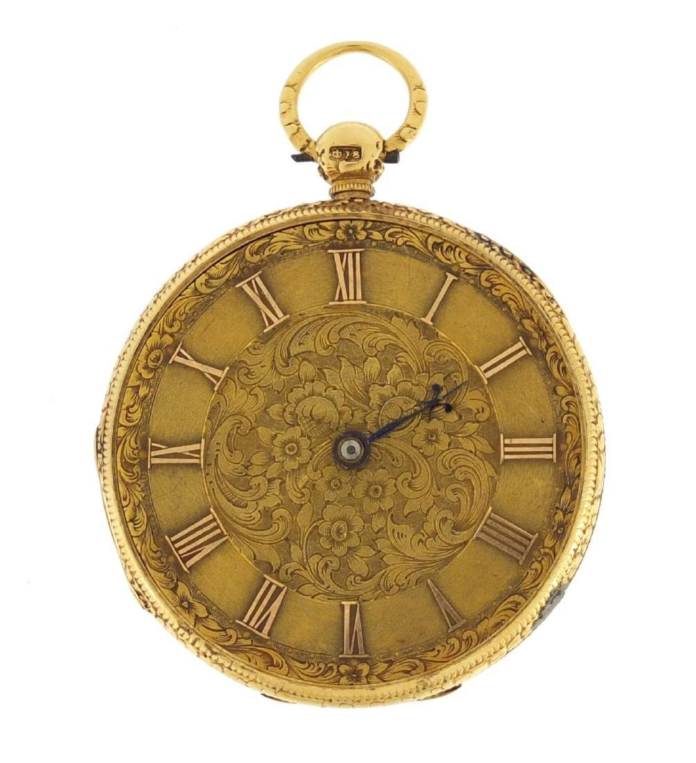 Victorian ladies 18ct gold Kendal & Dent pocket watch,