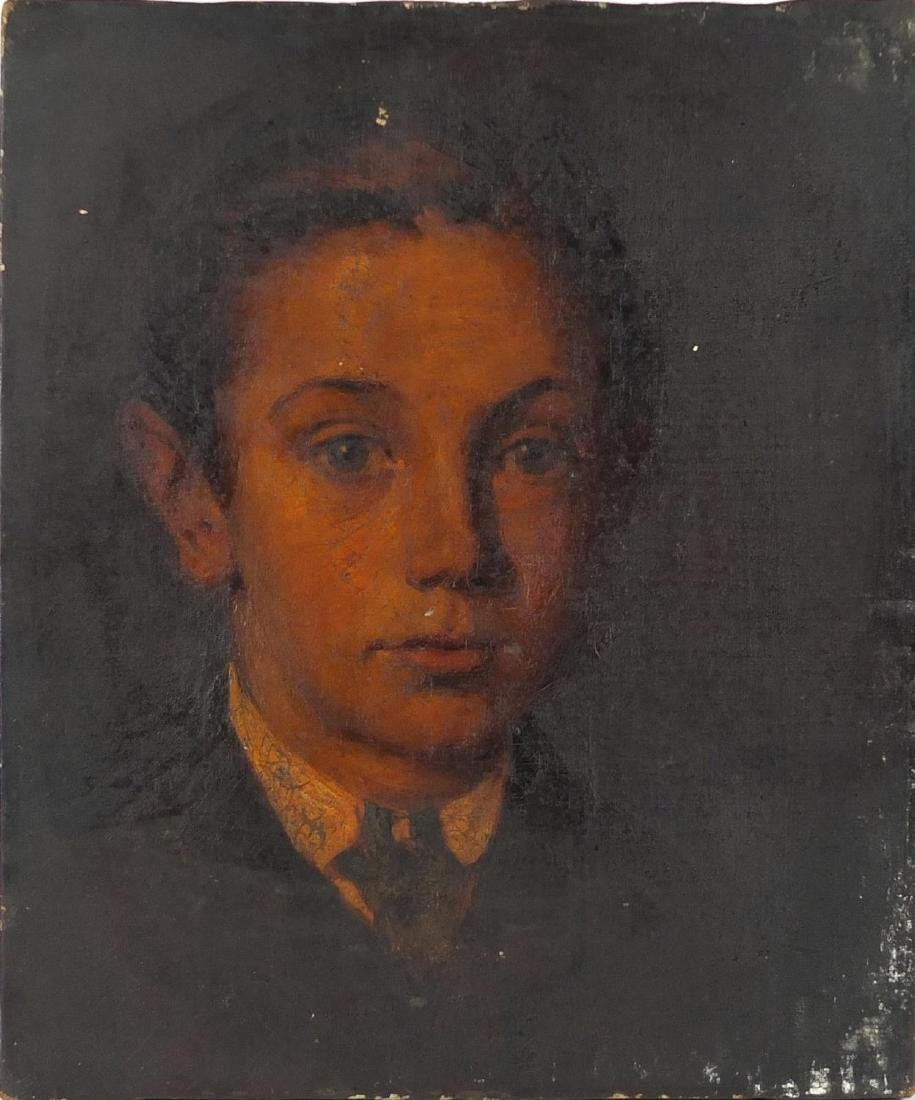 Head and shoulders portrait of a young boy, 19th