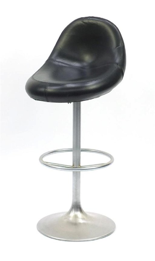 Awesome Venus Black Leather And Chrome Bar Stool Designed By Jul Gmtry Best Dining Table And Chair Ideas Images Gmtryco