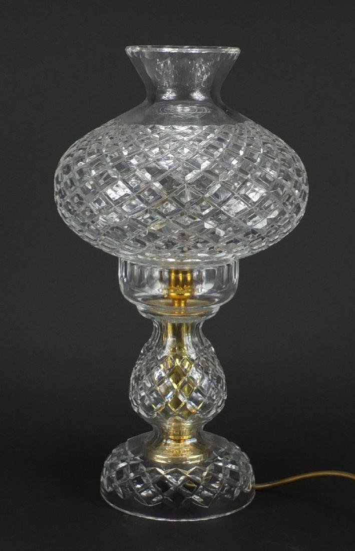 Cut glass toadstool table lamp, 40cm high