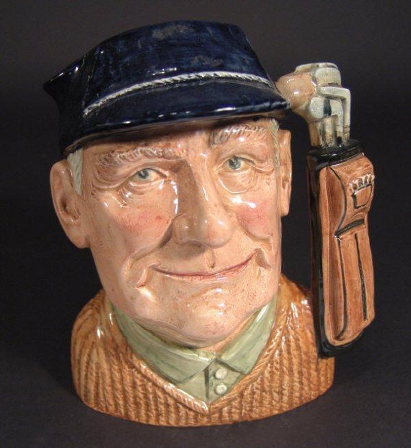 1217: Large Royal Doulton character jug 'Golfer', D6623