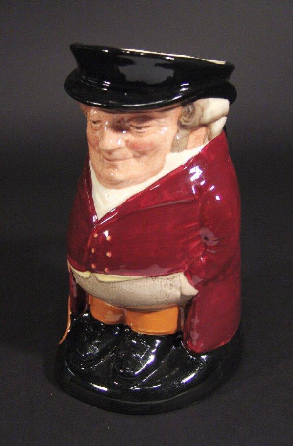 1219: Large Royal Doulton 'Huntsman' toby jug with hand