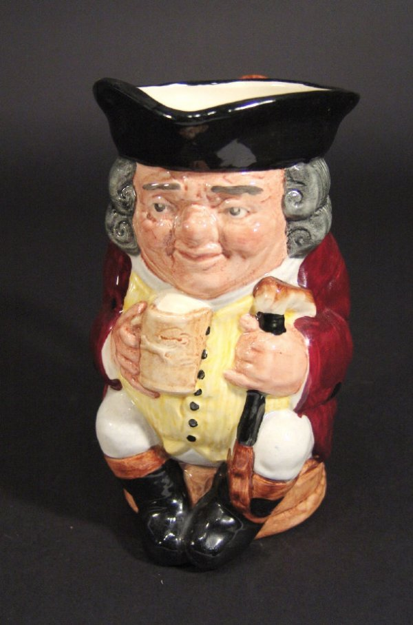 1220: Royal Doulton 'Jolly Toby' jug with hand painted