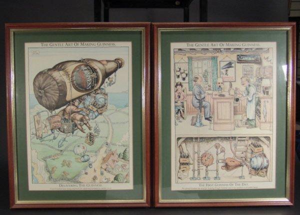 1507: Twelve Guinness advertising prints by John Irelan