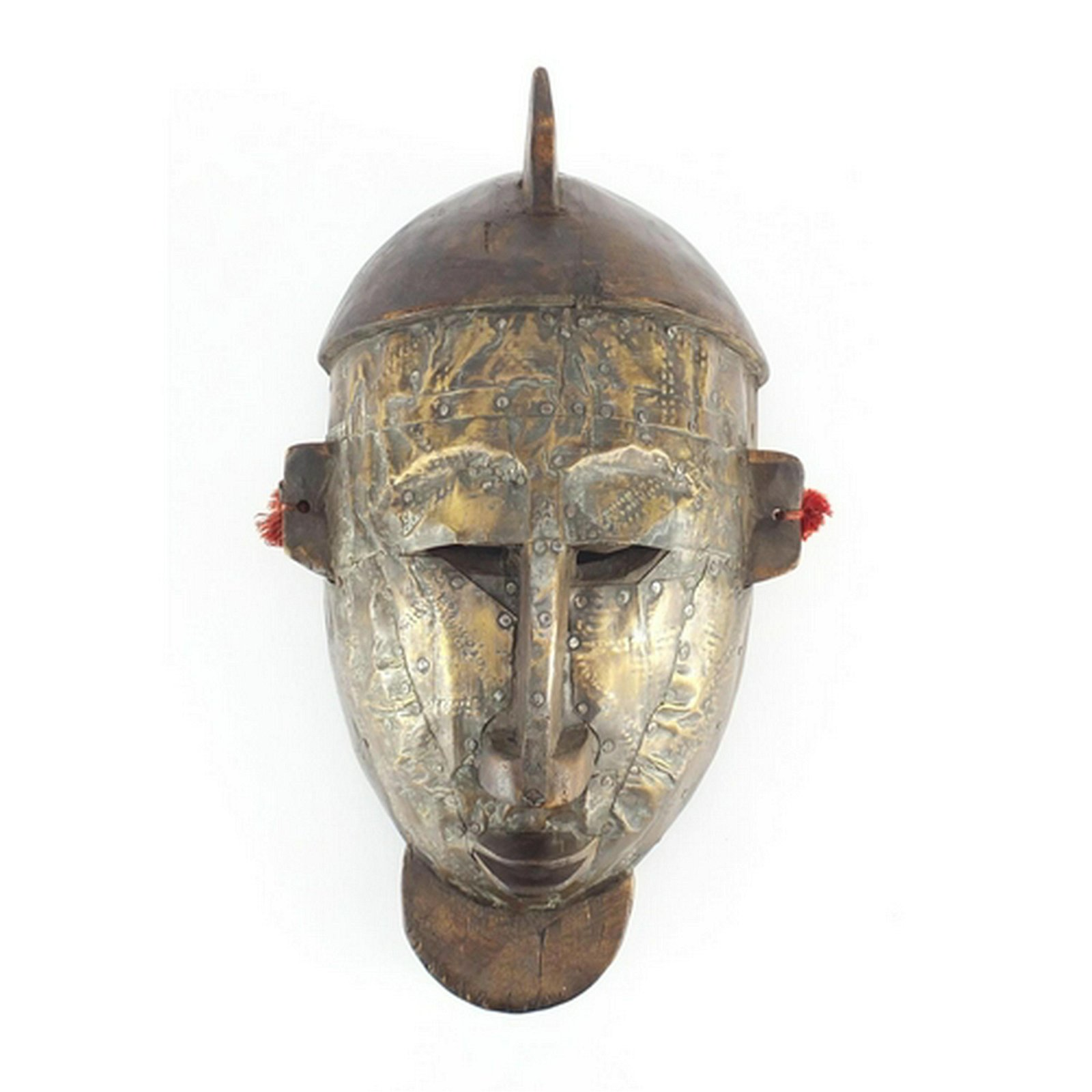 Tribal interest carved wood Bambara warrior mask from