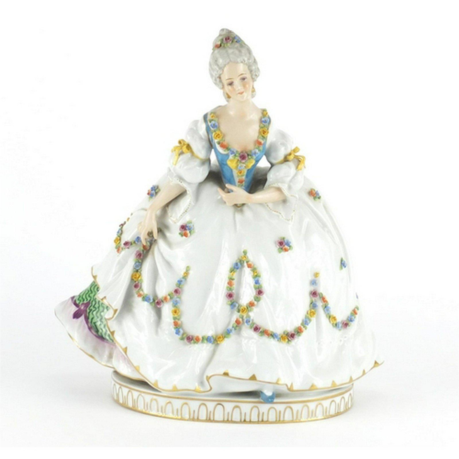 Austrian porcelain figurine of a female wearing a