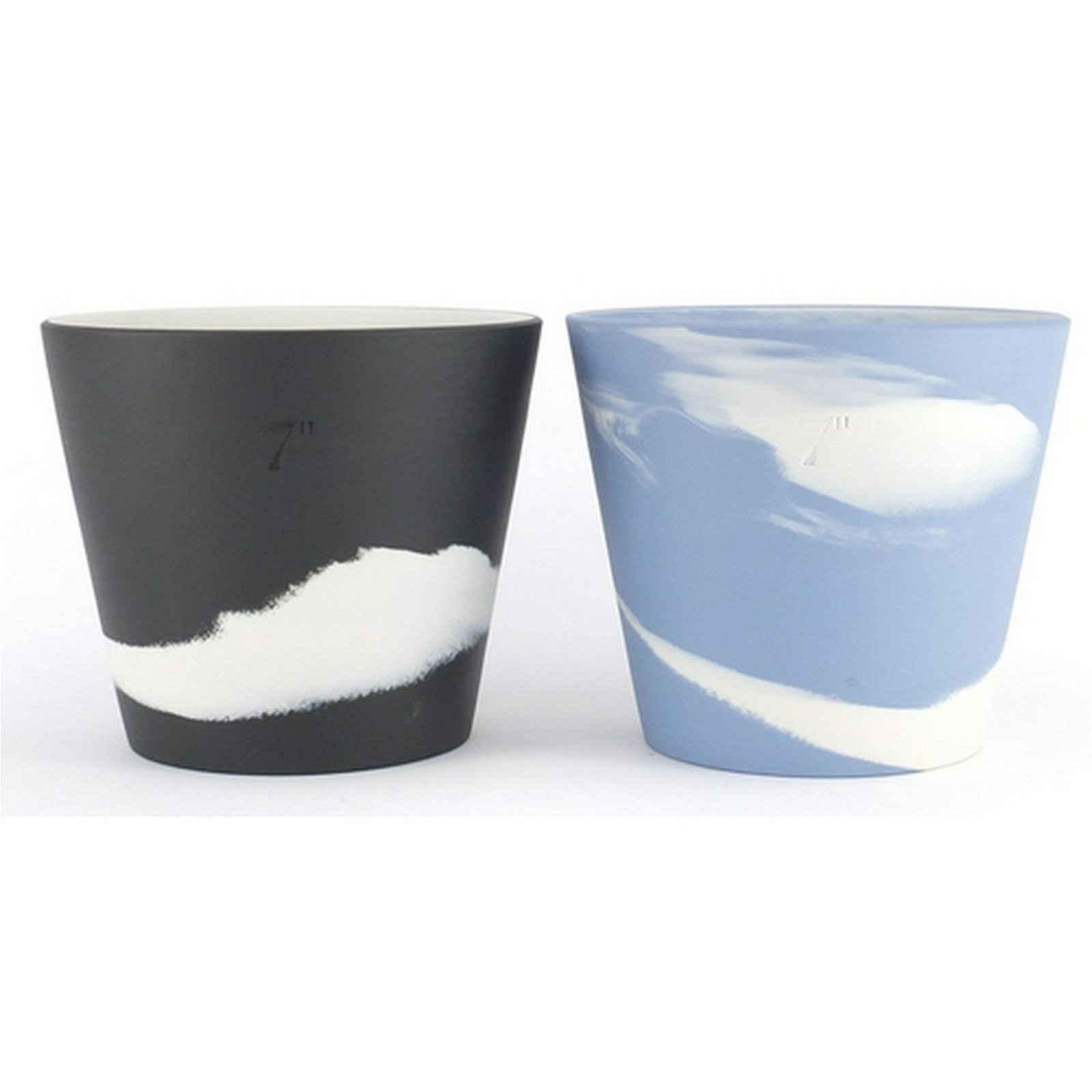Two Wedgwood Jasper Ware Burlington plant pots, each
