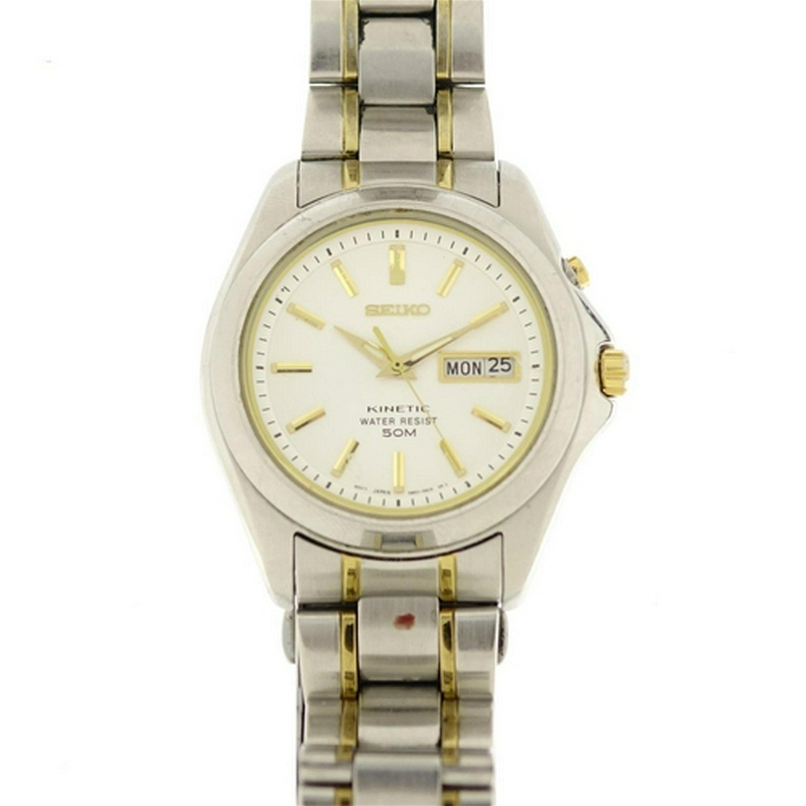 Gentleman's Seiko Kinetic wristwatch with day date