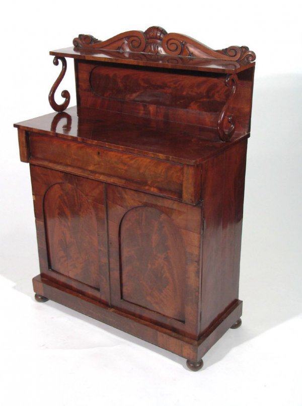 10: Victorian mahogany chiffonier, the superstructure w
