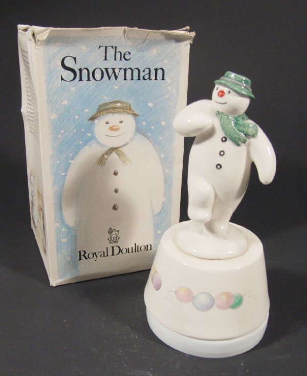 1217: Royal Doulton 'Snowman Magic' Figure with musical