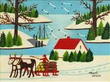 Manner of Maud Lewis - Winter scene, Canadian school